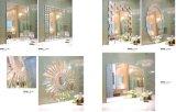Зеркало круглой ванной комнаты декоративное