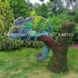 인공적인 난초 꽃 공작 조각품