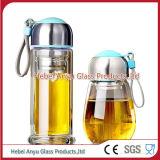 botella de cristal de agua de soda 200ml con el tapón de tuerca