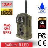 Macchina fotografica d'esplorazione del gioco di caccia IR MMS/GPRS/Email della traccia mobile nera della lunga autonomia 12MP 940nm