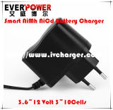 Everpower Small 0.6A Universal 4.8V Battery Charger per NiCd NiMH Battery