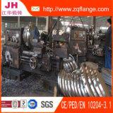 O material da flange do sulco do zinco é aço de carbono