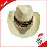 カウボーイのパナマ帽子のカスタムペーパー麦わら帽子
