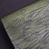 Cuoio animale dell'unità di elaborazione del Faux della pelle di serpente, cuoio classico del sacchetto