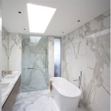 イタリアの白いカウンタートップのタイルのCalacattaの白の大理石