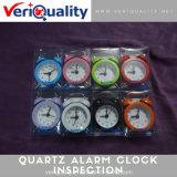 Contrôle de qualité d'horloge d'alarme de quartz et service d'inspection en Chine