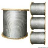 Corde galvanisée du fil d'acier 6X7+FC/Iws/Iwrc faite dans Nantong