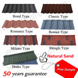 Échantillon gratuit Prix bon marché Kerala Hot Sale Toit métallique recouvert de carrelage en pierre