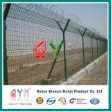 Тип проволочная изгородь высокия уровня безопасности y бритвы авиапорта столба