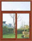 Finestra di scivolamento della lega di alluminio con la vetratura doppia per il progetto