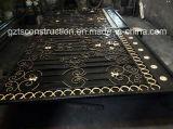 Lado Forjados portão de ferro forjado com Rodas