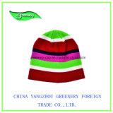 Chapéu cinzento do Knit das crianças relativas à promoção com borda