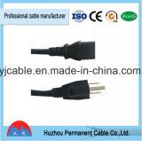 Американский UL пробку удлинителя вилку кабеля питания 3-контактный кабель питания в низкой цене