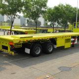 Carga Flatbed do reboque 35ton do caminhão do eixo do reboque 3 do recipiente
