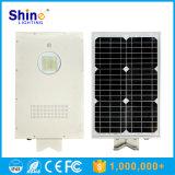 Sunpower Panneau solaire 15W Toutes les LED dans une rue lumière solaire avec capteur infrarouge de l'homme