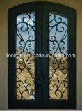 Portas abertas da segurança das portas de entrada do ferro feito do balanço luxuoso