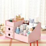 Коробка хранения DIY многофункциональная деревянная Desktop косметическая