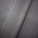 ワニの皮パターン、マットの表面の合成物質PUの革、袋の革