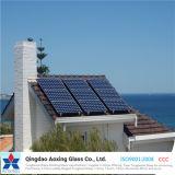 Glace solaire en verre de fer inférieur pour le chauffe-eau solaire de module de pile solaire
