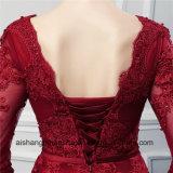 A dama de honra longa das luvas veste vestidos longos da dama de honra de Tulle da alta qualidade
