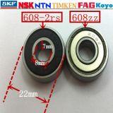 Cuscinetti a sfera profondi 608, cuscinetto a sfere di ceramica di NTN 608-2RS della scanalatura del pattino di Koyo per i pattini