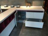 De witte Gemengde Rode Keukenkasten van het Meubilair van het Huis