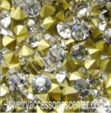 水晶ラインストーンポイント背部Mc Chaton色のラインストーン