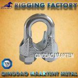 un type clip malléable de câble métallique de fer de moulage
