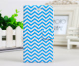 PU colorida Leather Caso de Chevron Sailor Anchor Flip para Samsung S5