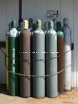 20L blanc bouteille de gaz d'oxygène