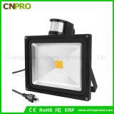 Capteur d'éclairage de plafond de rue et de mur Capteur de mouvement PIR 50W Lumière d'inondation LED