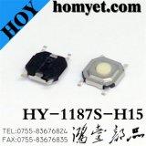 Schakelaar de van uitstekende kwaliteit van de Tact met 5.2*5.2mm Ronde Knoop 4 Speld SMD (hy-1187s-H15)