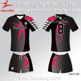 Fútbol Jersey de la sublimación del tinte del diseñador de la alta calidad de Healong