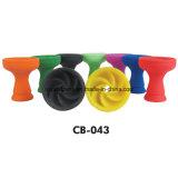 Tazón de fuente de la cachimba del silicón de la corona del ciclón del tazón de fuente de la cachimba del diseño de la personalidad