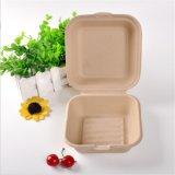 使い捨て可能なバガステーブルウェアクラムシェルの食糧ボックス
