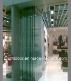 Portello scorrevole di vetro dei divisori in vetro di Frameless di alta qualità