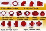Redutor concêntrico Grooved do ferro Ductile da alta qualidade (FM/UL)