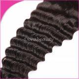 二重Weft深い閉鎖のブラジルのバージンの毛