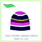 新しい昇進の組合せカラーしまのある冬の帽子