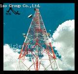 Torre de monopole de microondas e radiodifusão de rádio