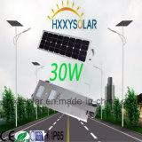 1개의 LED 태양 가로등에서 에너지 절약 30W 전부