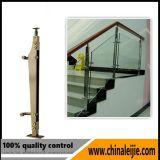 Barandilla de cristal del diseño moderno del balcón del acero inoxidable
