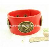El verano de la moda de joyería fina/Natural de la personalidad de cuero rojo PU Cortex Pulsera con pulseras de la Eagle Ecológico (PB-012)