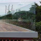 """Inferriata/rete fissa di vetro della scanalatura a """"u"""" di Framless del balcone della casa di campagna"""