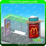 ステンレス鋼のバス停の避難所
