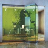 Sin cerco comercial Push-Pull de vidrio de acero inoxidable puerta plegable los racores de Foshan (F8000)