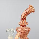 Recycler-Rohr-buntes rauchendes Wasser-Glasrohr (ES-GB-236)