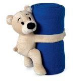 Coperta del panno morbido dei bambini con il giocattolo dell'orso dell'orsacchiotto