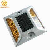 LED étanche Cat Eye réfléchissant route solaire en aluminium le goujon (JW-12D)