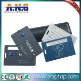 Ntag213 Tag dobro da bagagem do PVC RFID com corda transparente